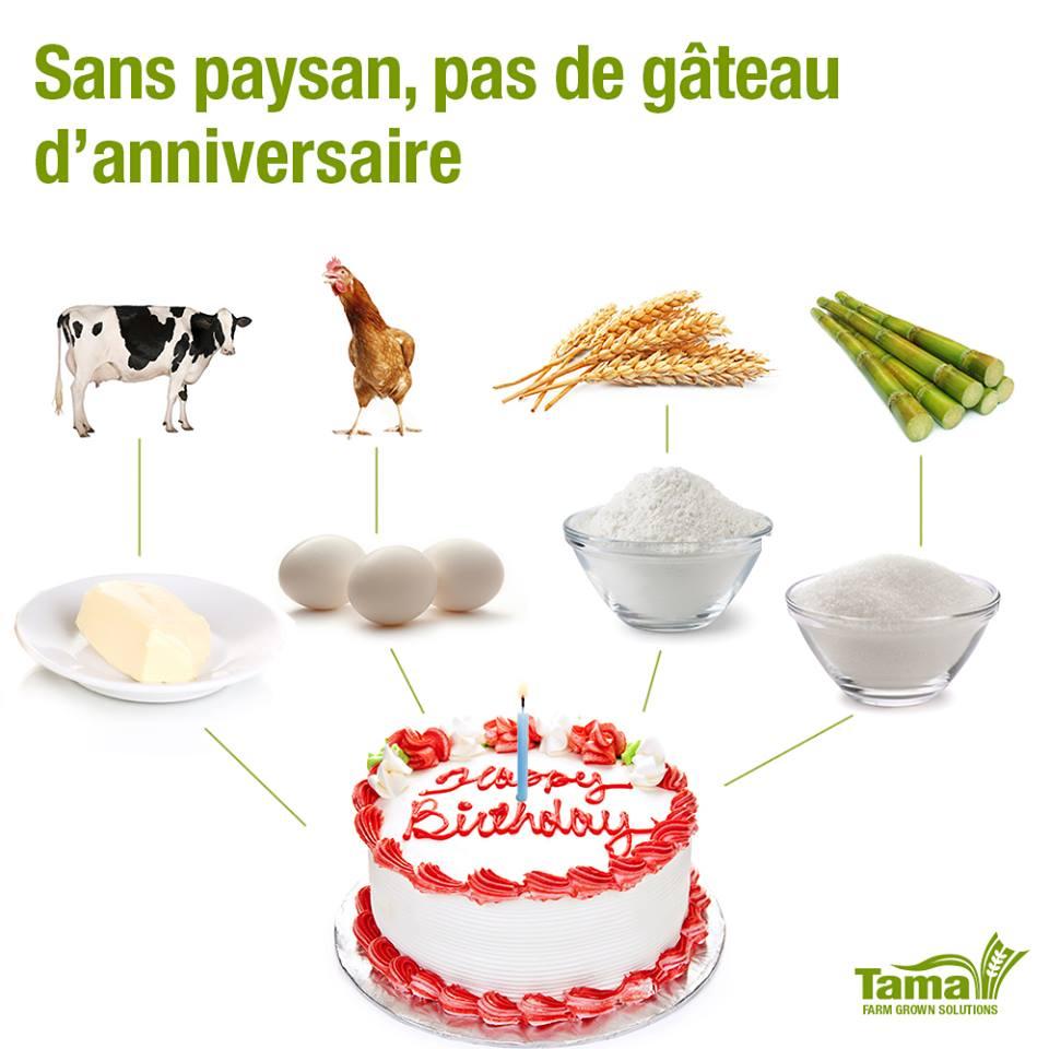 Sans paysan, pas de gâteau d'anniversaire