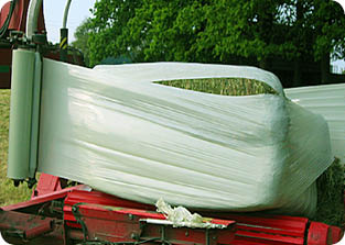 Wrapping square bales